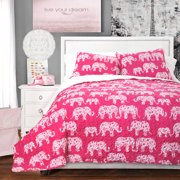 Elephant Parade Quilts/Sleeping Bags Pink 3-Piece Set, Sherpa, Twin