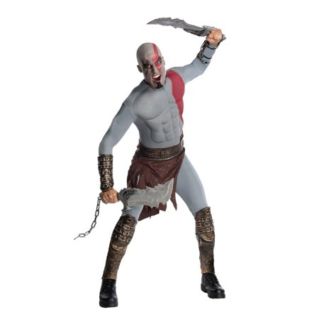 Armor Of God Costume For Adults (God Of War Kratos Musclechest Costume)