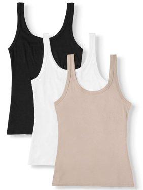 Women's Layering Tank Top, 3 Pack Bundle