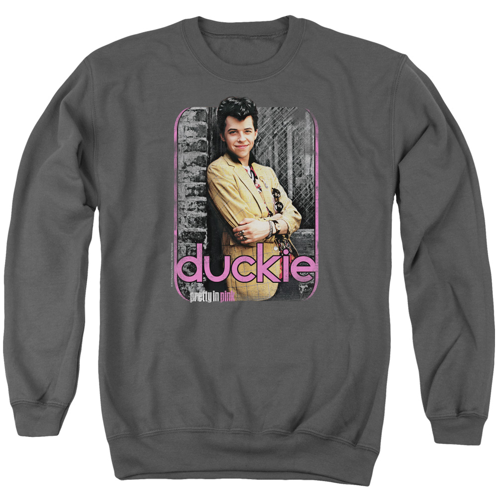 Pretty In Pink Just Duckie Mens Crewneck Sweatshirt