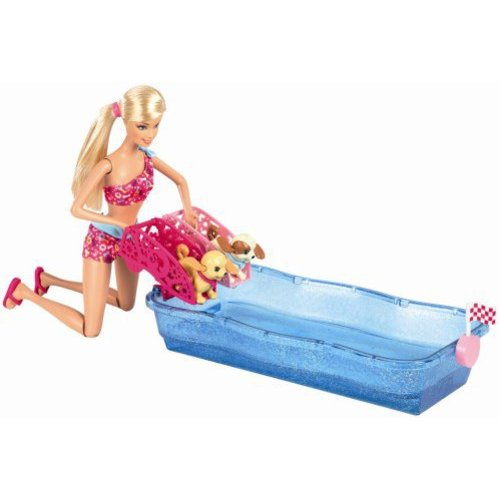 Barbie Swim and Race Pups and Doll