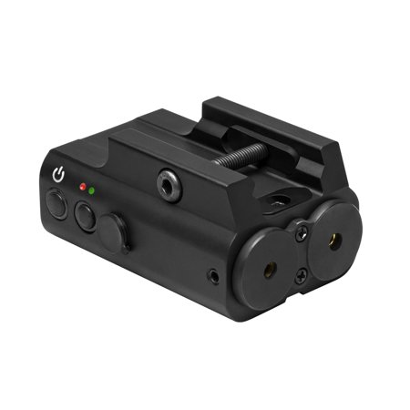 Red and Green Laser with Picatinny Rail Mount (Rail Mount Light With Laser)