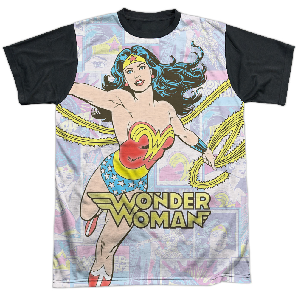 DC Comics Wonder Collage Mens Sublimation Shirt