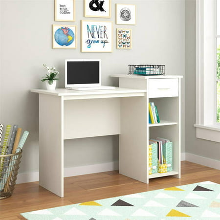 mainstays student desk with easy glide drawer multiple finishes. Black Bedroom Furniture Sets. Home Design Ideas