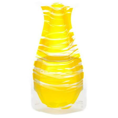 Myvaz Expandable Flower Vase Bandido Yellow-Pack of 2 ()