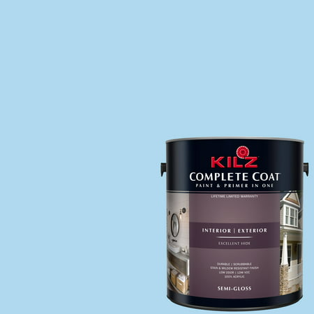 KILZ COMPLETE COAT Interior/Exterior Paint & Primer in One #RD200-02 Pool Party