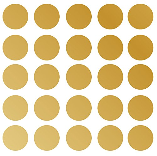 "Innovative Stencils Polka Dot Wall Decal Nursery Kids Room Peel and Stick Removable Sticker Circle Pattern Décor (4"" (25 Dots)) #1326"