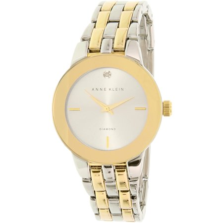 Anne Klein Women's AK-1931SVTT Gold Stainless-Steel Quartz Fashion Watch