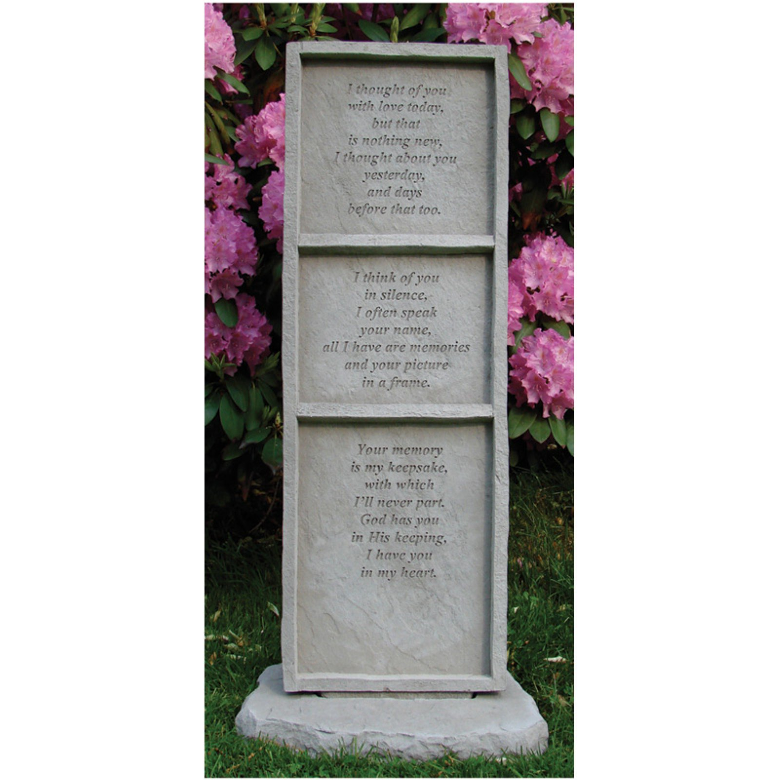I Thought Of You Memorial Stone - Square Design