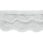 """Expo Int'l 10 yards of Lace Trim 7/8""""- White"""