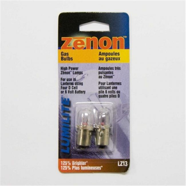 Lumilite LZ13 Xenon Gas Flange Base Bulb 4. 8V 0. 9A For 4D- 6V Flashlight Pack of 6