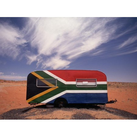 Food Trailer Painted with South African Flag Motif Print Wall Art By Charles