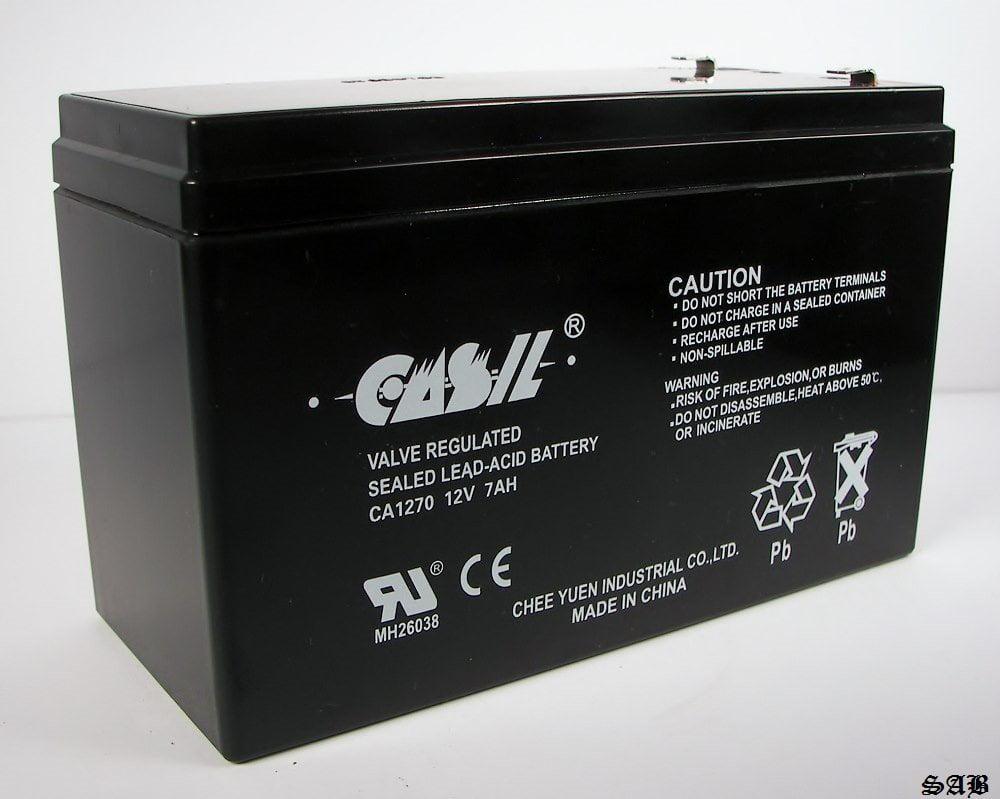 12V 7AH CA1270 UPS Battery for Ultra Tech UT1270 Replacement Battery,  Genuine Pro Power 12 Volt 7 / 7 2 Amp Battery - Maintanence Free - Valve