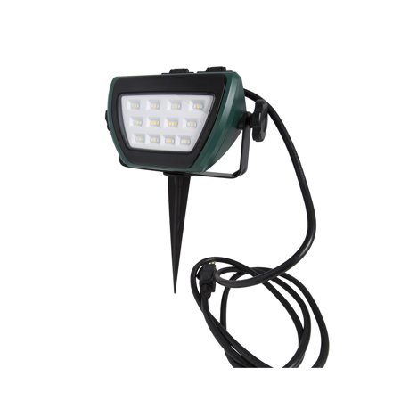 ILLUMINATOR 41927 500 Lumen Outdoor LED Stake Light with 2 Additional Outlets (selectable Red, Green, or White light (X-ray Illuminator Two Bank)