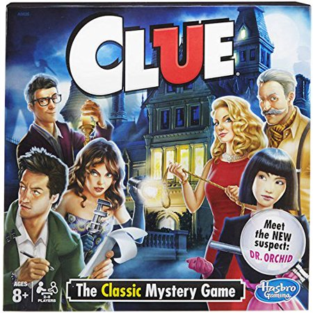 Clue Board Game - The Classic MysteryIncludes: 1 gameboard, 6 tokens, 6 miniature weapons, 30 Cards (6 character cards, 6 weapon cards, 9 room cards.., By Hasbro - Clue Board