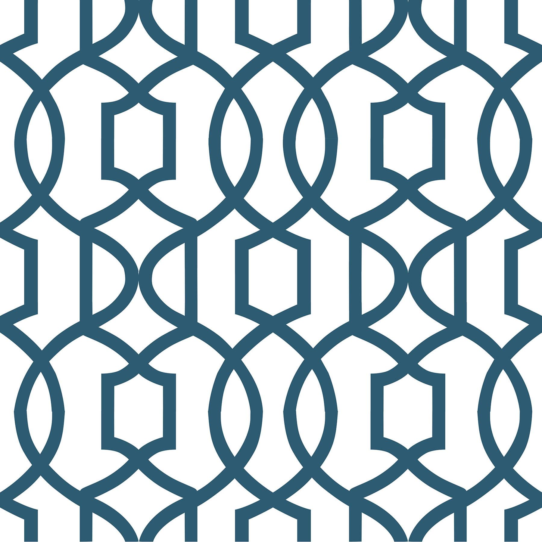 Brewster Grand Trellis Peel and Stick Wallpaper by NuWallpaper