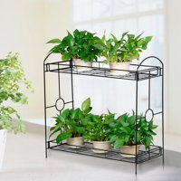 Yaheetech 2 Tier Plant Stand Holder Display Flower Shelf Garden Indoor Outdoor
