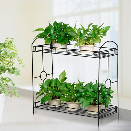 Yaheetech 2 Tier Plant Stand Holder Display Flower Shelf Garden Indoor Outdoor Outdoor Shelf Stand