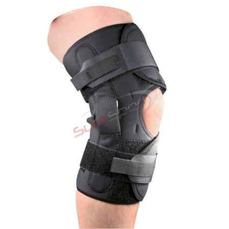Premium Wrap Around Hinged Knee Brace with Patella Support Adjustable - Hinged Wrap Around Knee Brace
