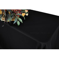 """Wedding Linens Inc. 54""""x96"""" Rectangular Polyester Table Cover Tablecloth for event, wedding, decoration use - Black"""