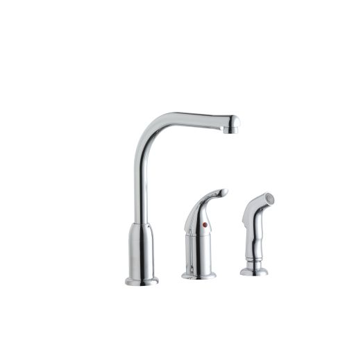 Elkay LK3001CR Everyday 3 Hole Kitchen Faucet With Remote Handle And Side  Spray, Chrome