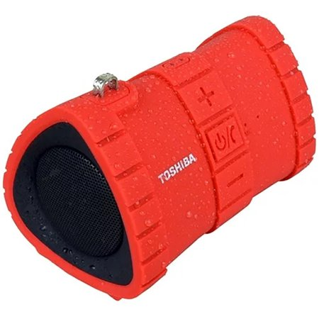 Toshiba Sonic Dive 2 Rugged Floating Wireless Speaker w/ IP67 Rating - Red  (Waterproof)