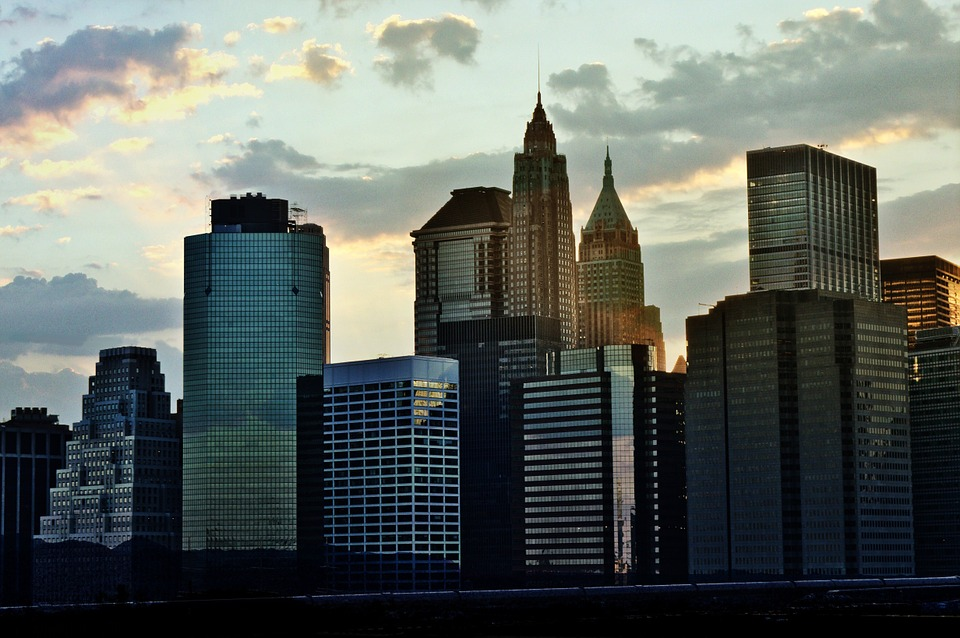 Canvas Print New York Bridge Brooklyn Horizon Line Rent A