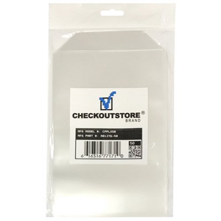50 CheckOutStore Clear Storage Pockets (5 5/8 x 8 1/2)