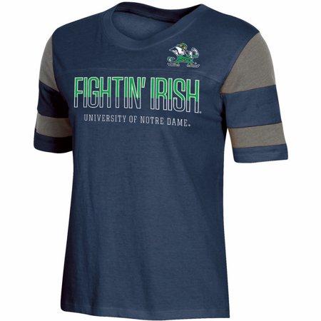 - Women's Russell Navy Notre Dame Fighting Irish Boxy T-Shirt
