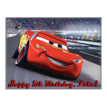 Lightning McQueen Cars edible cake image cake topper](Cars Cake Toppers)