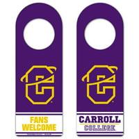 Carroll College Fighting Saints Tier Door Hanger