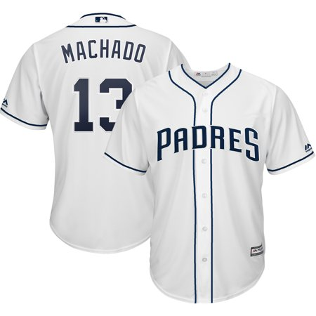 Manny Machado San Diego Padres Majestic Official Cool Base Player Jersey - White