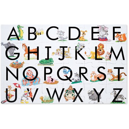 """Melissa & Doug ABC Learn the Alphabet Floor Puzzle (Easy-Clean Surface, Promotes Hand-Eye Coordination,24 Pieces, 24"""" L x 36"""" -"""