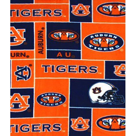 Auburn Tigers Allover NCAA Fleece Fabric - by the Yard By Online ...