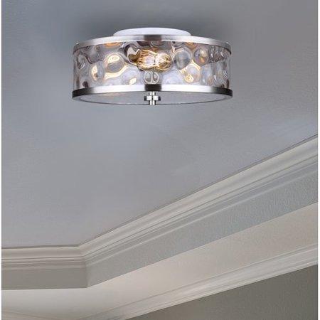 - Williston Forge Bernardine Contemporary 3-Light Semi Flush Mount