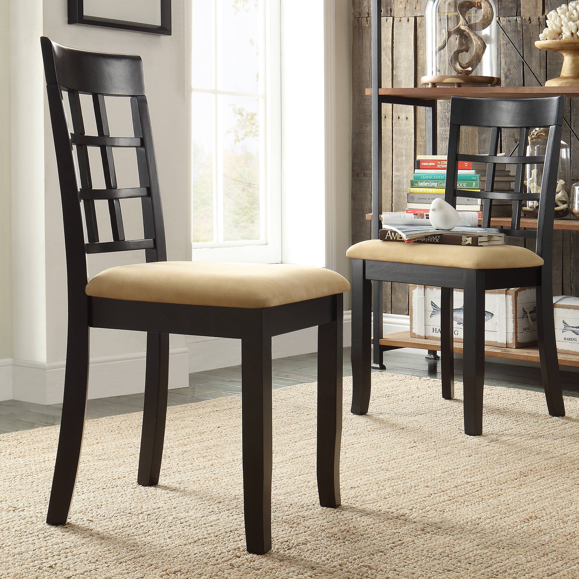 Lexington Window Back Dining Chairs, Set Of 2, Black