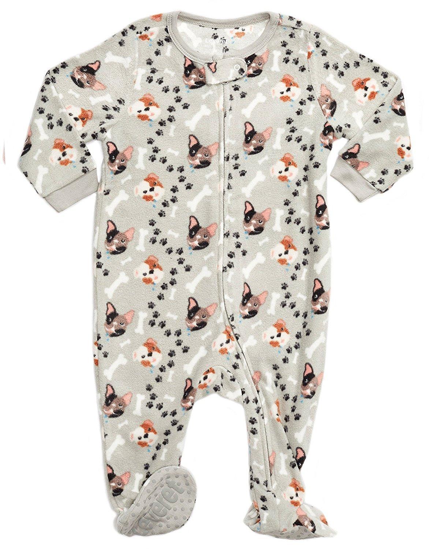 Leveret Fleece Footed Pajama Sleeper Dog Boy 6-12 Months