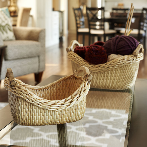 Household Essentials 2 Piece Cobblestone Basket Set