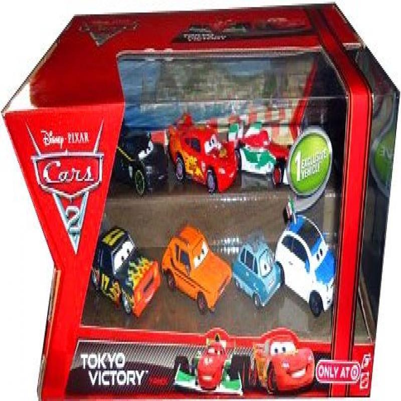 Disney 7 Pack CARS 2 Die Cast Tokyo Victory by Mattel by