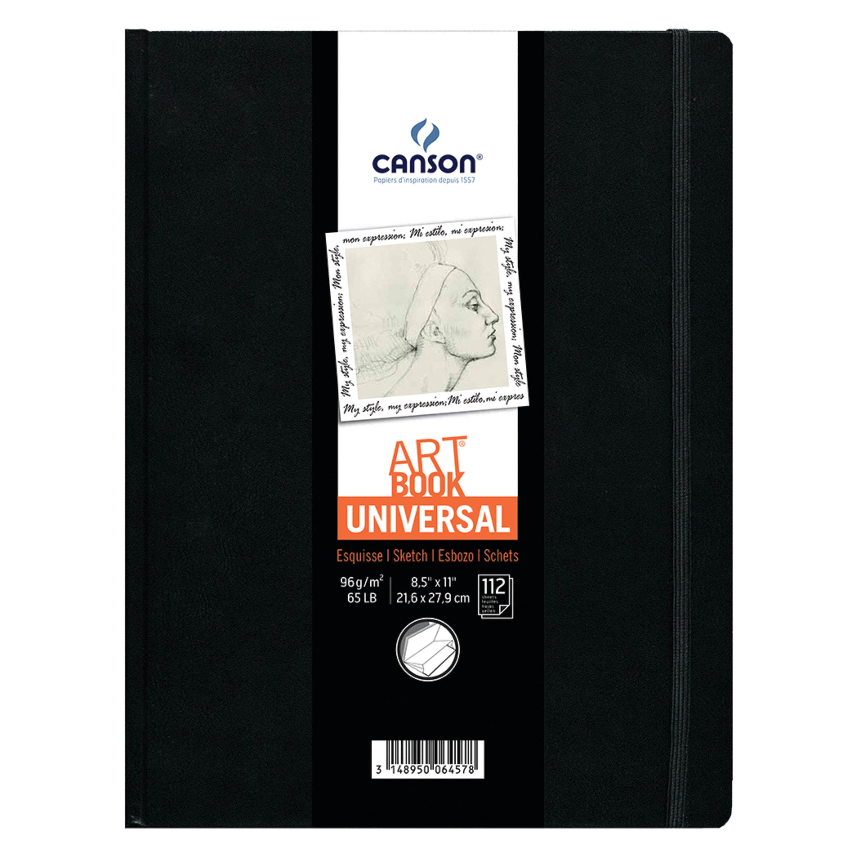 Canson Universal Art Book, Hard-Bound, 8.5in x 11in