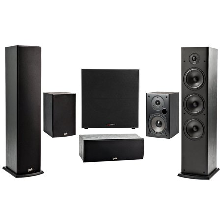 Polk 5.1 Channel 4K 3D A/V Surround Sound Multimedia Home Theater Speaker System ()
