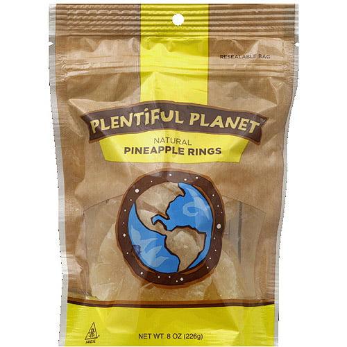 Plentiful Planet Pineapple Rings, 8 oz, (Pack of 6)