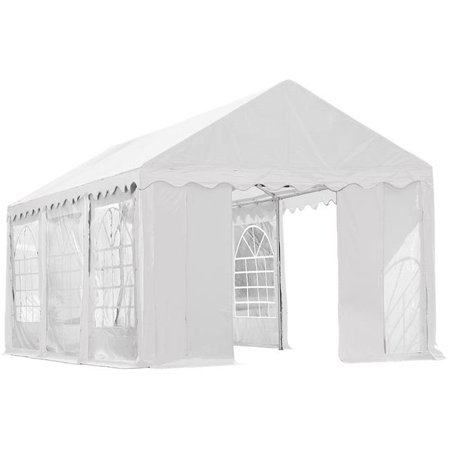 Enclosure Kit with Windows for Party Tent 10' x 20'/3m x 6m, White, (Frame and Cover Not Included)