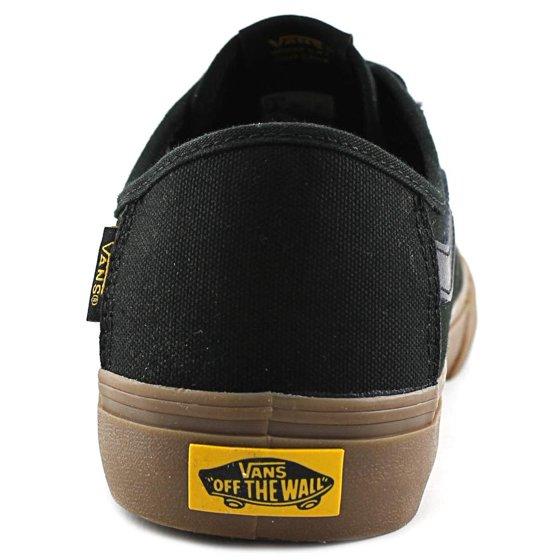 ad9e614cb1 Vans - Vans Men s Black Ball Sf Captain Fin   Gum Ankle-High Canvas ...