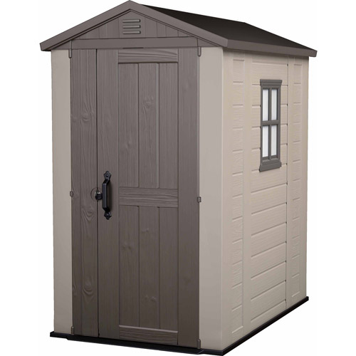 Keter Factor Stronghold Large 4 x 6 ft. Resin Outdoor Storage Shed