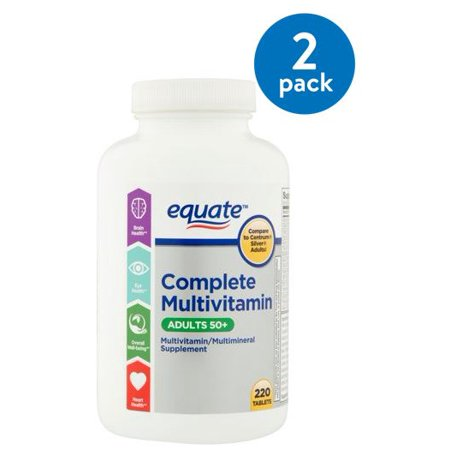 (2 Pack) Equate Complete Adults 50+ Multivitamin, 220