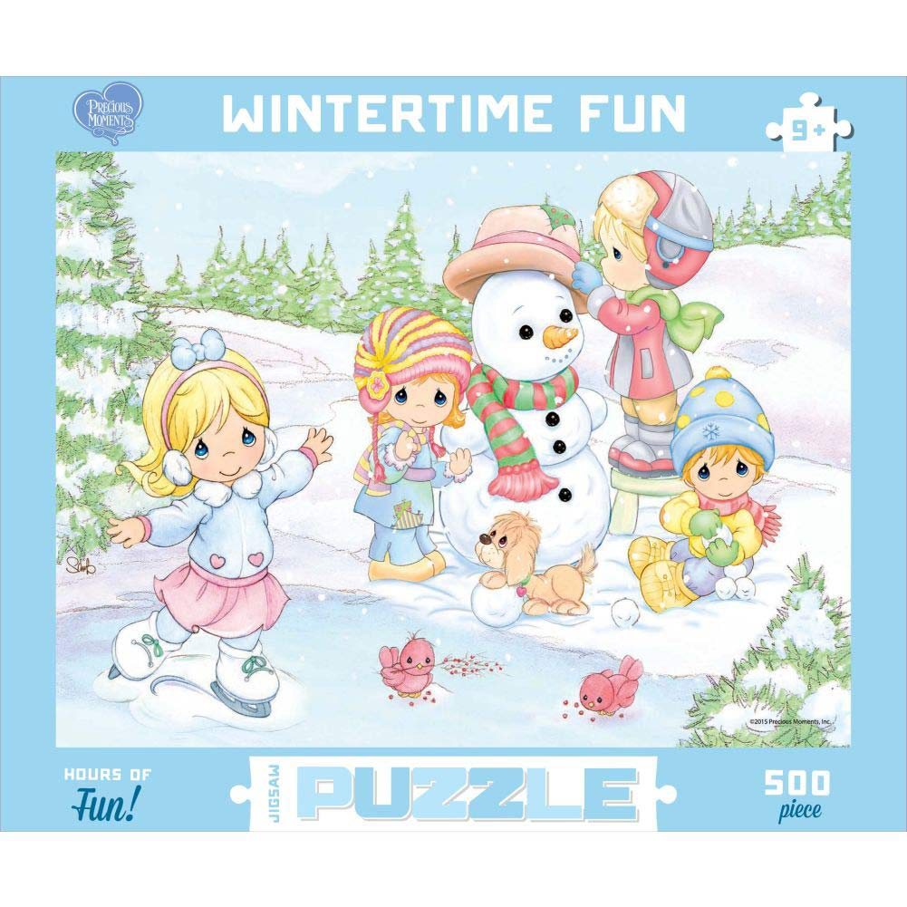 Precious Moments Wintertime Fun 500 Piece Puzzle,  Christmas Puzzles by Go! Games