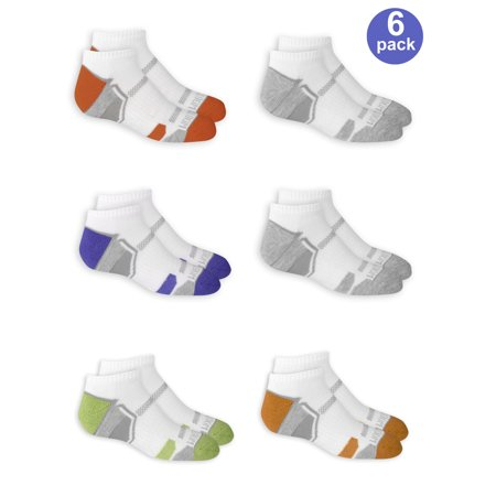 Juzo Silver Sole Support Socks - Everyday Active Cushioned No Show Socks with Arch Support, 6 Pairs (Big Boys)