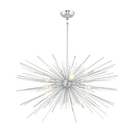 Lucia Six Light Chandelier (6 Light Sputnik Chandelier in Chrome)