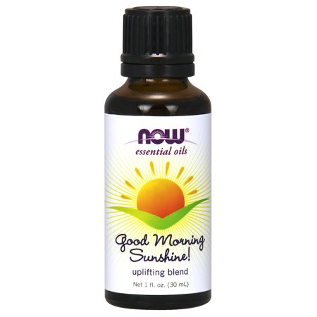 NOW Essential Oils, Good Morning Sunshine Aromatherapy Blend, Soothing Aromatherapy Scent, Blend of Pure Essential Oils, Vegan, - Soothing Scented Glass
